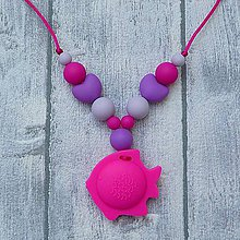 Detské doplnky - Silikónový náhrdelník na žužľanie Miranda - 9926330_