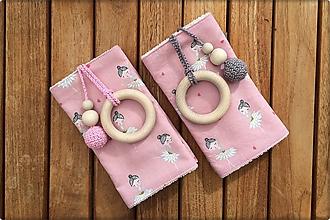 Detské doplnky - Slintáčiky Baletky - návleky na ergonomický nosič - 9928707_