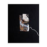 Obrazy - okno /abstraktná maľba na plátne - kombinovaná technika - A3/ - 9929195_