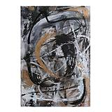 Obrazy - pochyby /abstraktná maľba na plátne - kombinovaná technika/ - 9929208_
