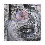 °myseľ° /abstraktná maľba - kombinovaná technika na plátne/