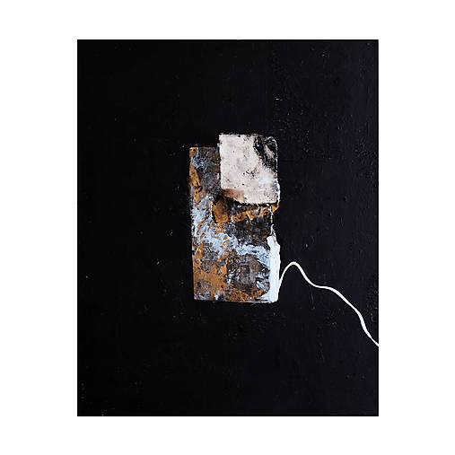 okno /abstraktná maľba na plátne - kombinovaná technika - A3/