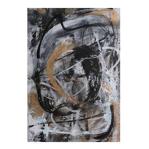 pochyby /abstraktná maľba na plátne - kombinovaná technika/