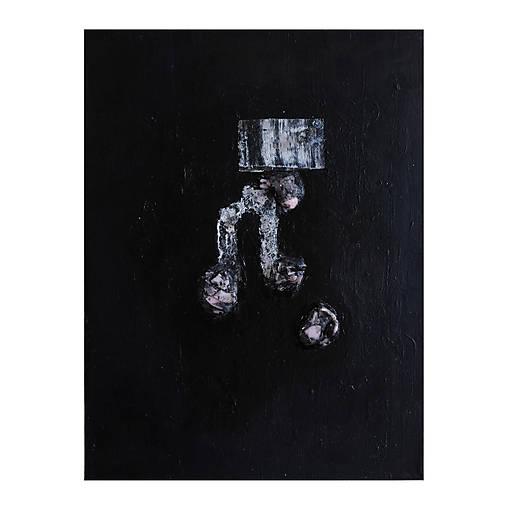brána /abstraktná maľba na plátne - kombinovaná technika/