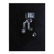 Obrazy - brána /abstraktná maľba na plátne - kombinovaná technika/ - 9929211_