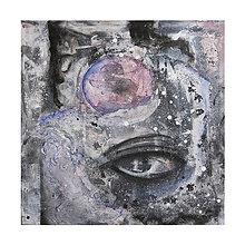 Obrazy - °myseľ° /abstraktná maľba - kombinovaná technika na plátne/ - 9929212_