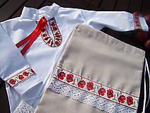 Detské oblečenie - Košeľa vlčí mak a batôžtek - 9926071_