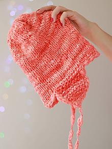 Čiapky - ROSE Pletená merino čiapka
