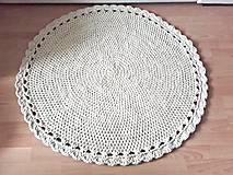 Scandinavian háčkovaný koberec prírodný 100cm