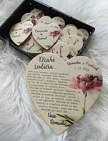 Darčeky pre svadobčanov - Magnetka ako poďakovanie pre rodičov - 9928419_