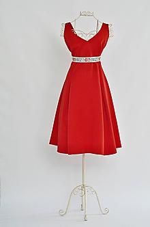 Šaty - Šaty s véčkovým výstrihom  - 9926678_