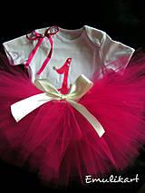 Fuchsiová tutu suknička