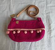 Kabelky - Ružová plstená kabelka - 9927035_