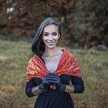 Šály - Dámsky plstený šál -