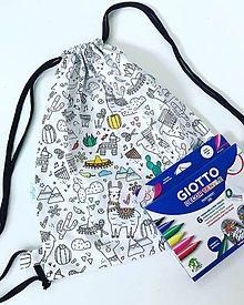 Detské tašky - Ruksáčik pre malých umelcov - 9927775_