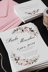Papiernictvo - Svadobné oznámenie - Jemná ružová (Etiketa 10,5x7,4cm) - 9926627_
