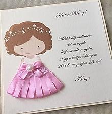Papiernictvo - Pozvánka pre malú družičku - 9928722_