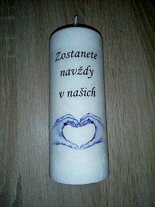 Svietidlá a sviečky - Ručne odlievaná sviečka k pamiatke zosnulých - 9929100_