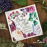 Papiernictvo - Svadobné oznámenie ~Flower Kocka~ - 9926033_