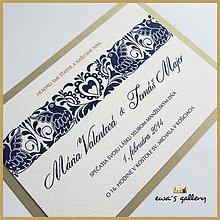 Papiernictvo - Svadobné oznámenie ~Folklor~ - 9925997_