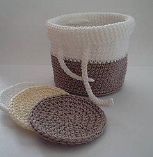 Úžitkový textil - Kozmetické tampóny - sada  (Hnedá) - 9927254_