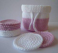 Úžitkový textil - Kozmetické tampóny - sada  (Ružová) - 9927271_