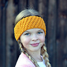 Detské čiapky - Dotyk slnka ~ háčkovaná čelenka - 9926188_
