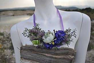 Náhrdelníky - Kvetinový náhrdelník Deep purple - 9925857_