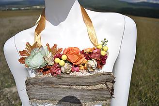 Náhrdelníky - Kvetinový náhrdelník Autumn leaves - 9925862_