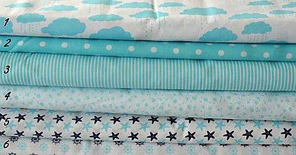 Textil - Sada tyrkysových látok - 9927828_