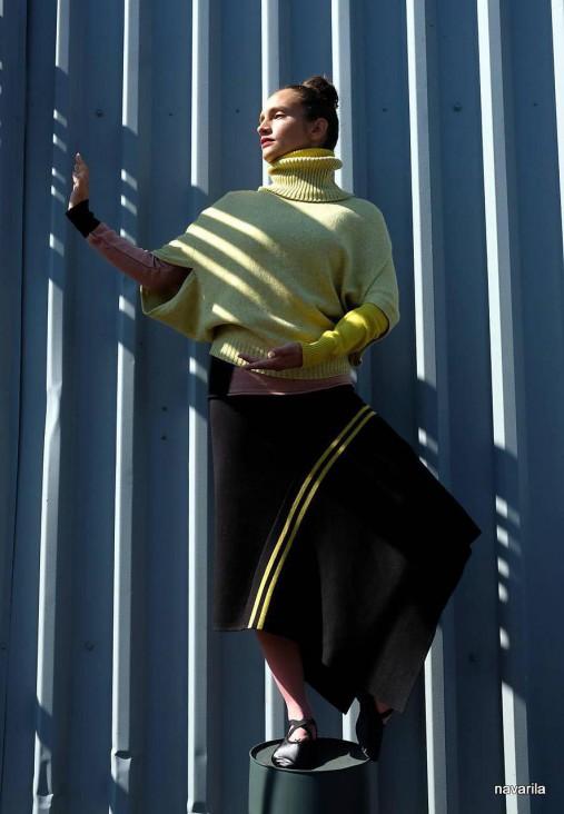 PULA svetr - se skládanými rukávy