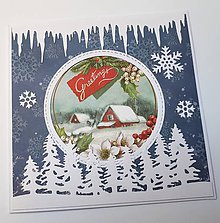 Papiernictvo - Vianočná pohľadnica - 9929080_