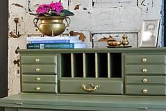 Nábytok - Písací stolík Olive - Predaný! - 9926374_