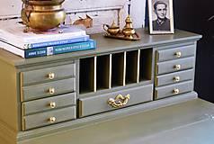 Nábytok - Písací stolík Olive - Predaný! - 9926381_