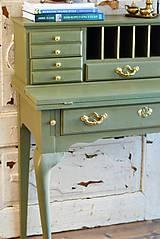 Nábytok - Písací stolík Olive - Predaný! - 9926384_