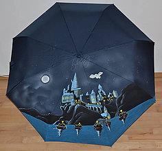 Iné doplnky - ručne maľovaný dáždnik- Harry Potter - 9928711_