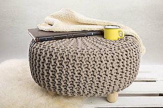 Nábytok - Taburetka/ stolík (Coffee béžová) - 9931305_