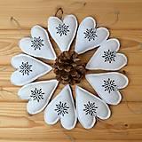 - Ľanové srdiečka-vianočné ozdoby-sada - 9930328_