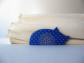 Odznaky/Brošne - ,,Mačka modrotlačka,, - 9929897_