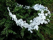 svadobný čipkový venček do vlasov - Ivory