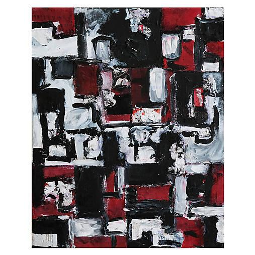 cenzúra /abstraktná maľba na plátne - kombinovaná technika/