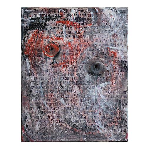 J&M /abstraktná maľba na plátne - akryl a sprej/