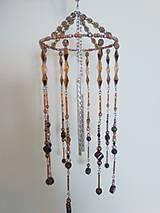 Dekorácie - Zvonkohra zo šperkových komponentov - hnedozlatá - 9929726_