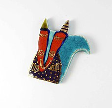 Odznaky/Brošne - Tana šperky - keramika/zlato, ELLA - 9929822_