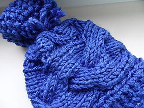 Detské čiapky - modrá čiapočka do 1 roka - 9929895_