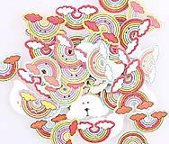 Galantéria - Drevený gombíček DÚHA 3 x 1,6 cm - 9930197_