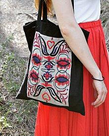 Veľké tašky - Ručne vyšívaná taška - 9930258_