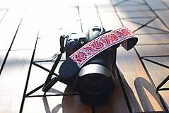 Nezaradené - Popruh na fotoaparát červeno-biely - 9929947_