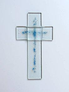 Dekorácie - Sklenený kríž - 9930961_