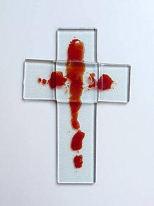 Dekorácie - Sklenený kríž - 9931135_
